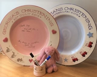 Christening Signing Plates