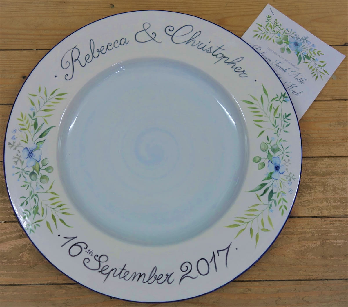 Wedding Signing Plate inspired by the wedding inviatation