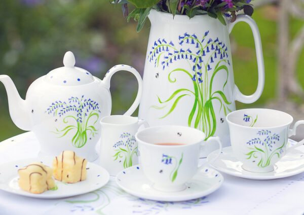 Personalised Pottery Bluebell China