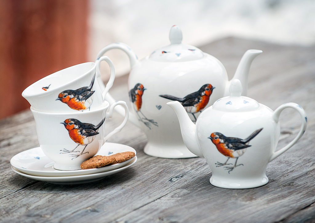 Robin Personalised China Bird Pottery