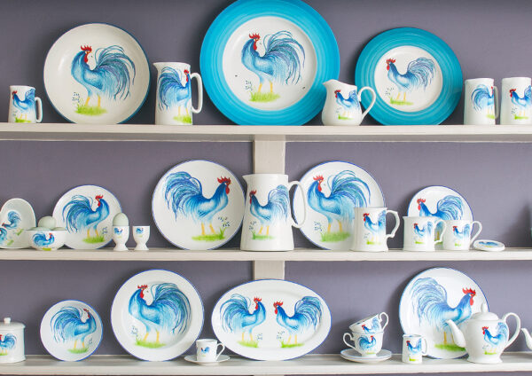 Hand Painted Cockerel China Bespoke