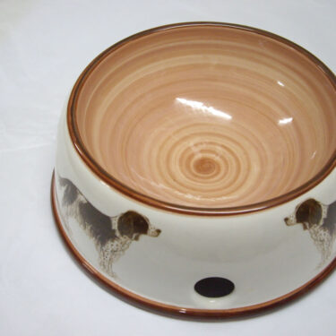 Medium Pottery Dog Bowl