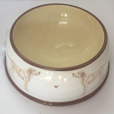 Small Pottery Dog Bowl