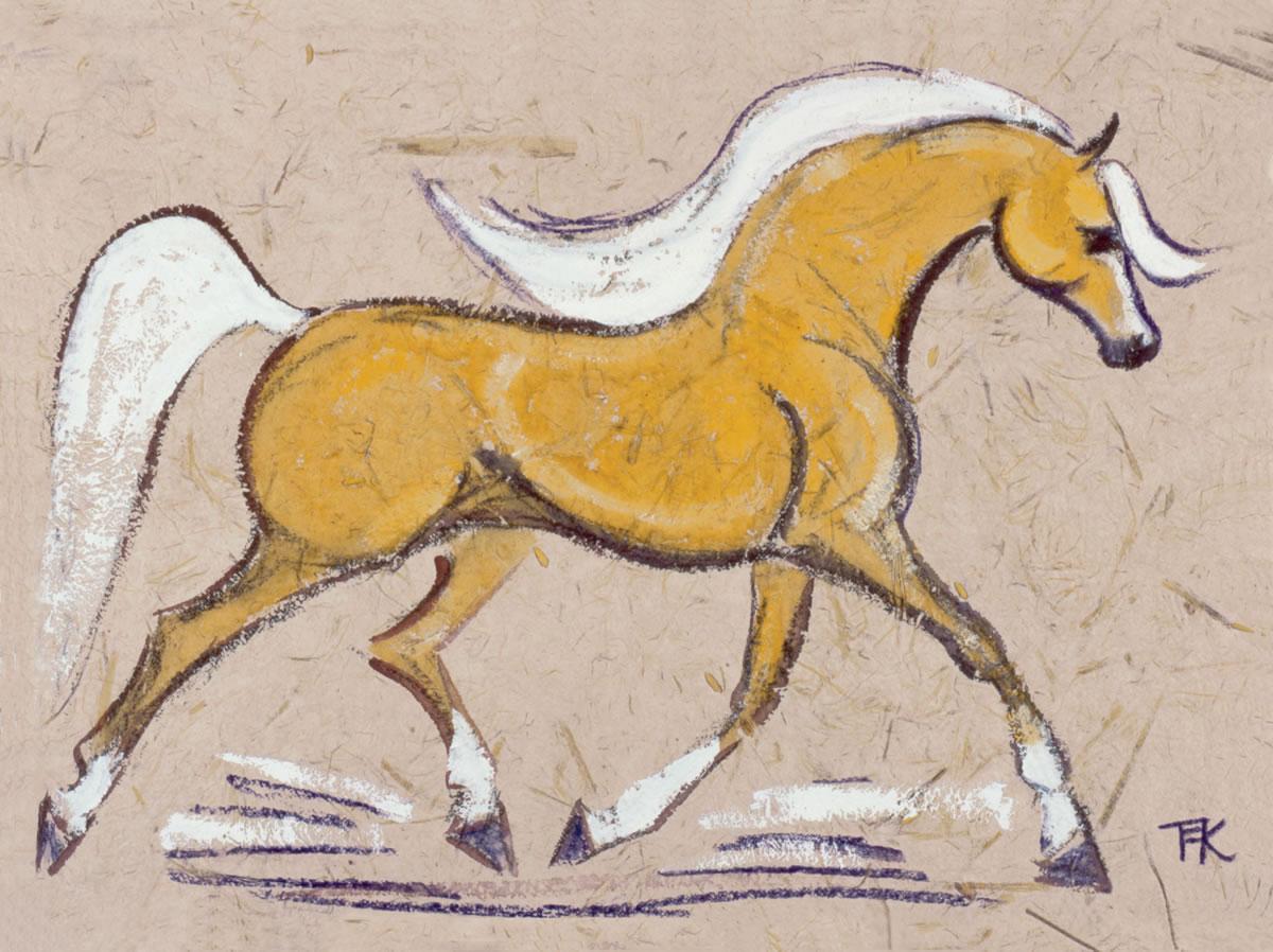 Palomino Horse Melamine Coaster Gabriella Shaw Ceramics