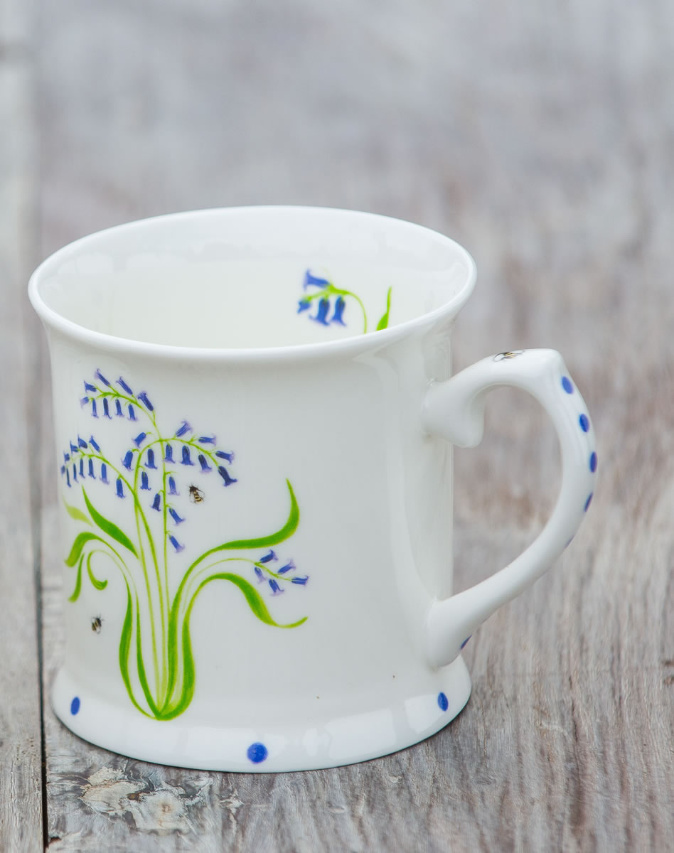 56148712200 Bluebell Tankard Bone China Mug