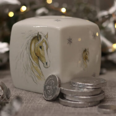 Snow Pony Bone China Money Box