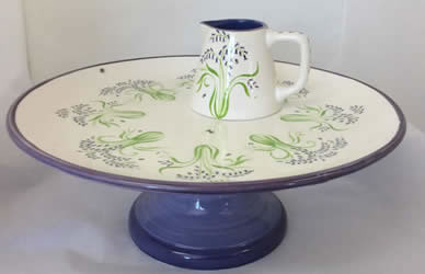 Bluebell Cakestand and Jug