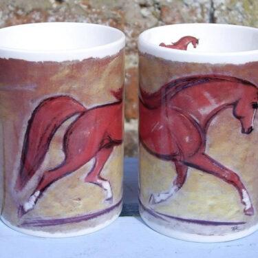 Chestnut Horse Bone China Mug