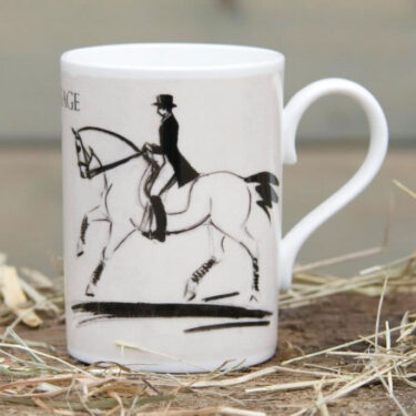 Dressage 3 day event horse mug