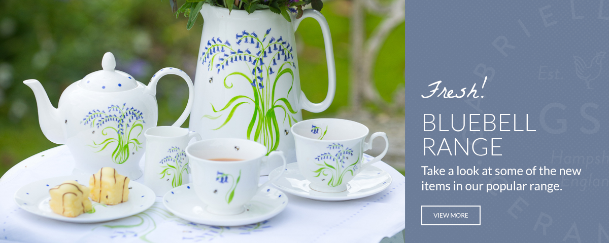 Personalised Pottery Bluebell Design China