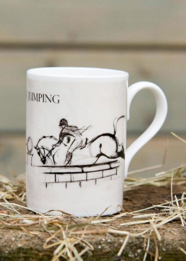3 Day Event Show Jumping Horse Bone China Mug