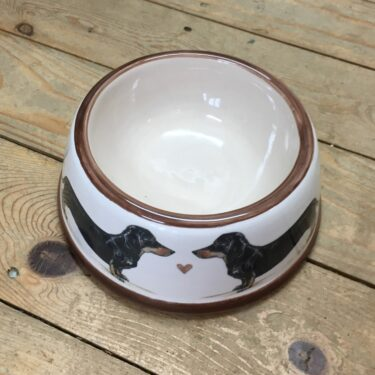 Mini Earthenware Dog Bowl