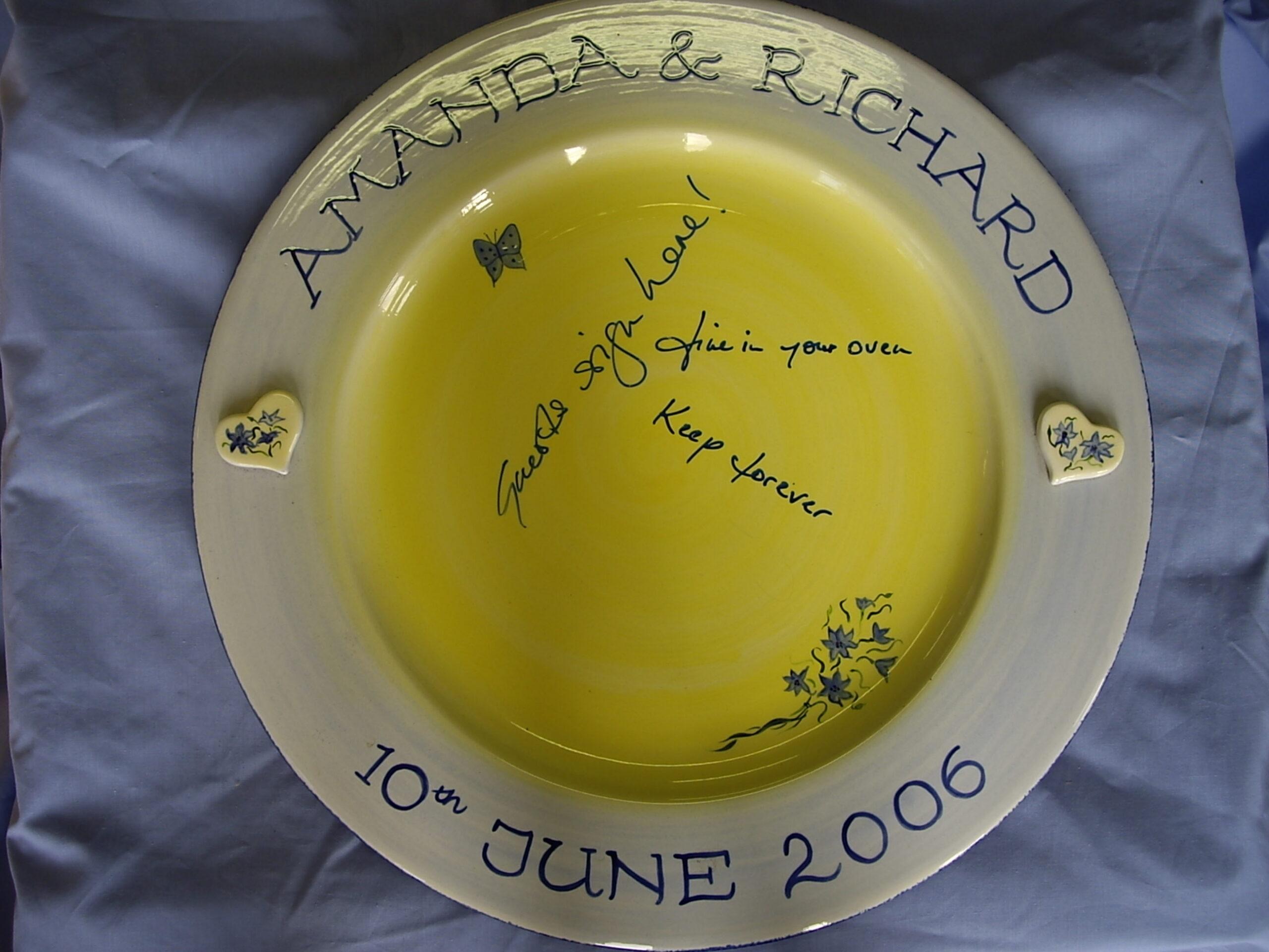 Wedding Signing Plate
