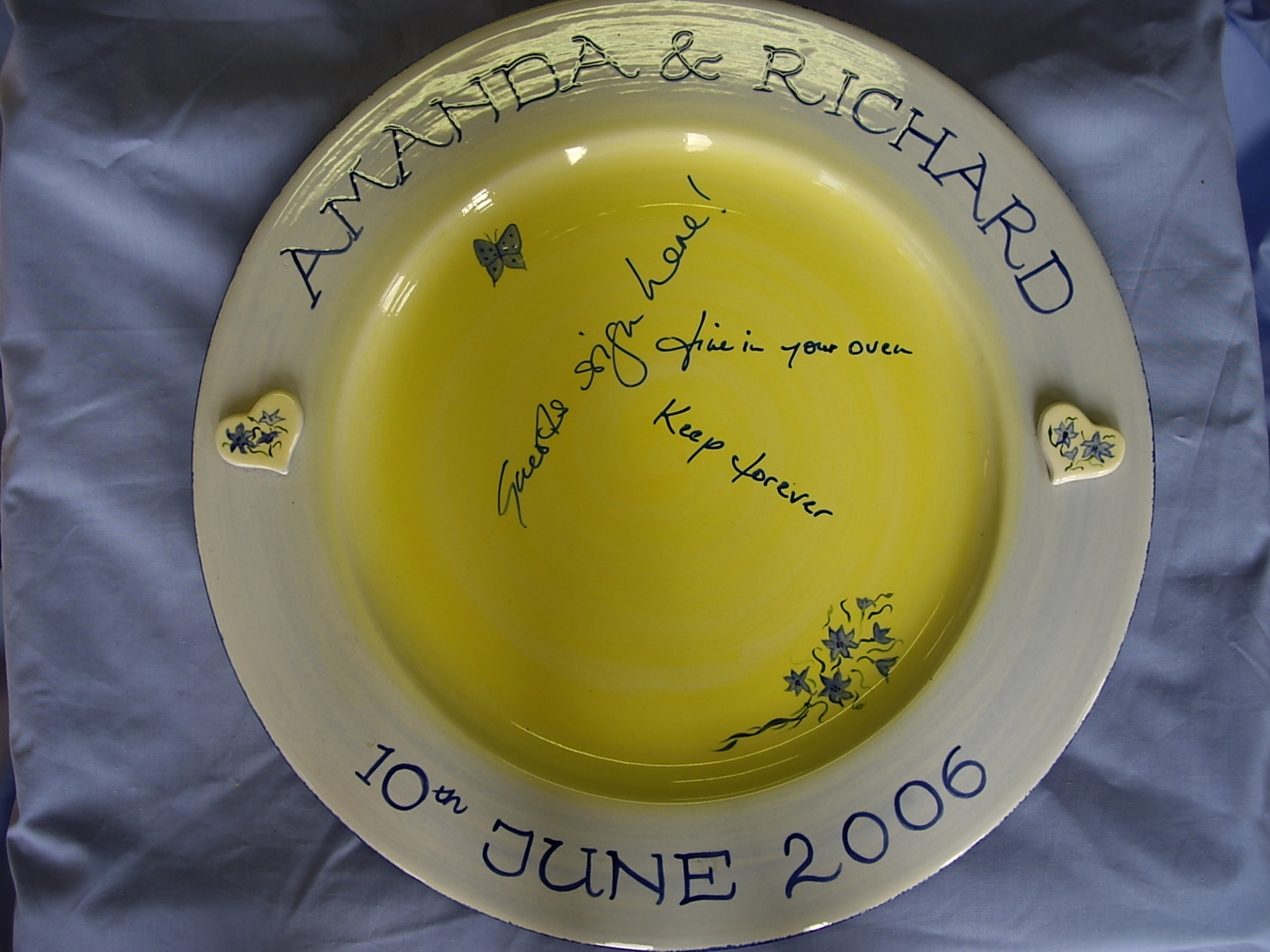 Wedding Signing Plate