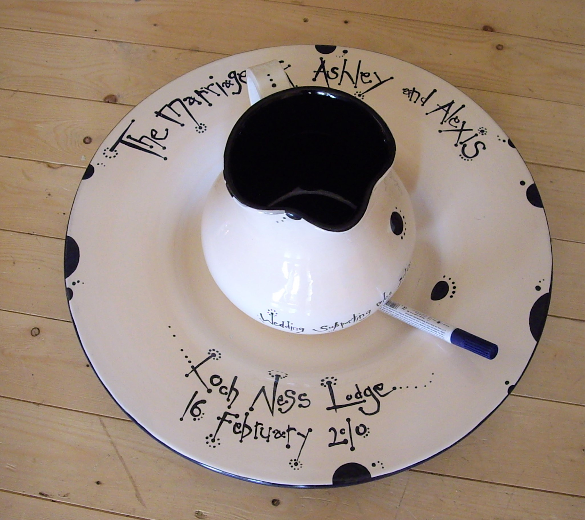 Wedding Signing Plate and Jug