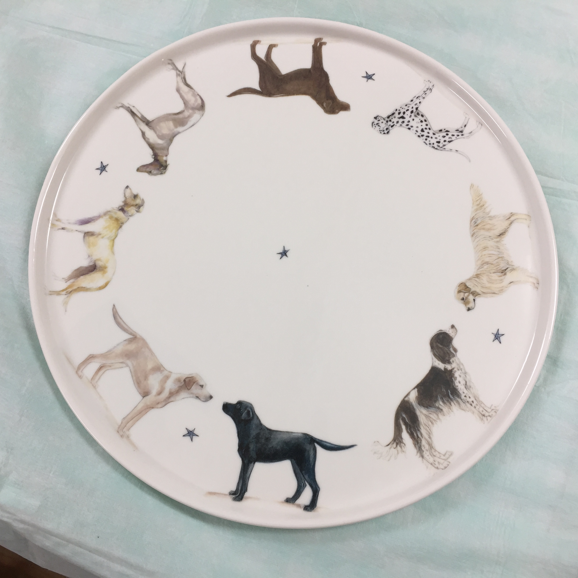 Large Cake Plate (oven proof porcelain)
