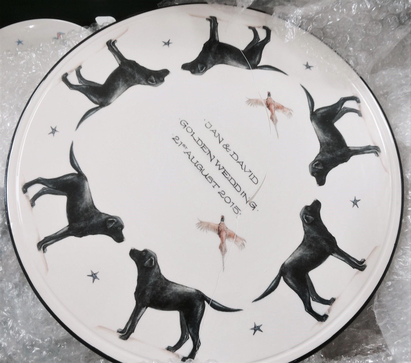Personalised Labrador Plate