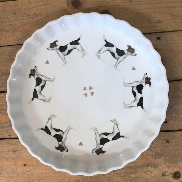 Quiche DIsh Large Cake Plate (oven proof porcelain)