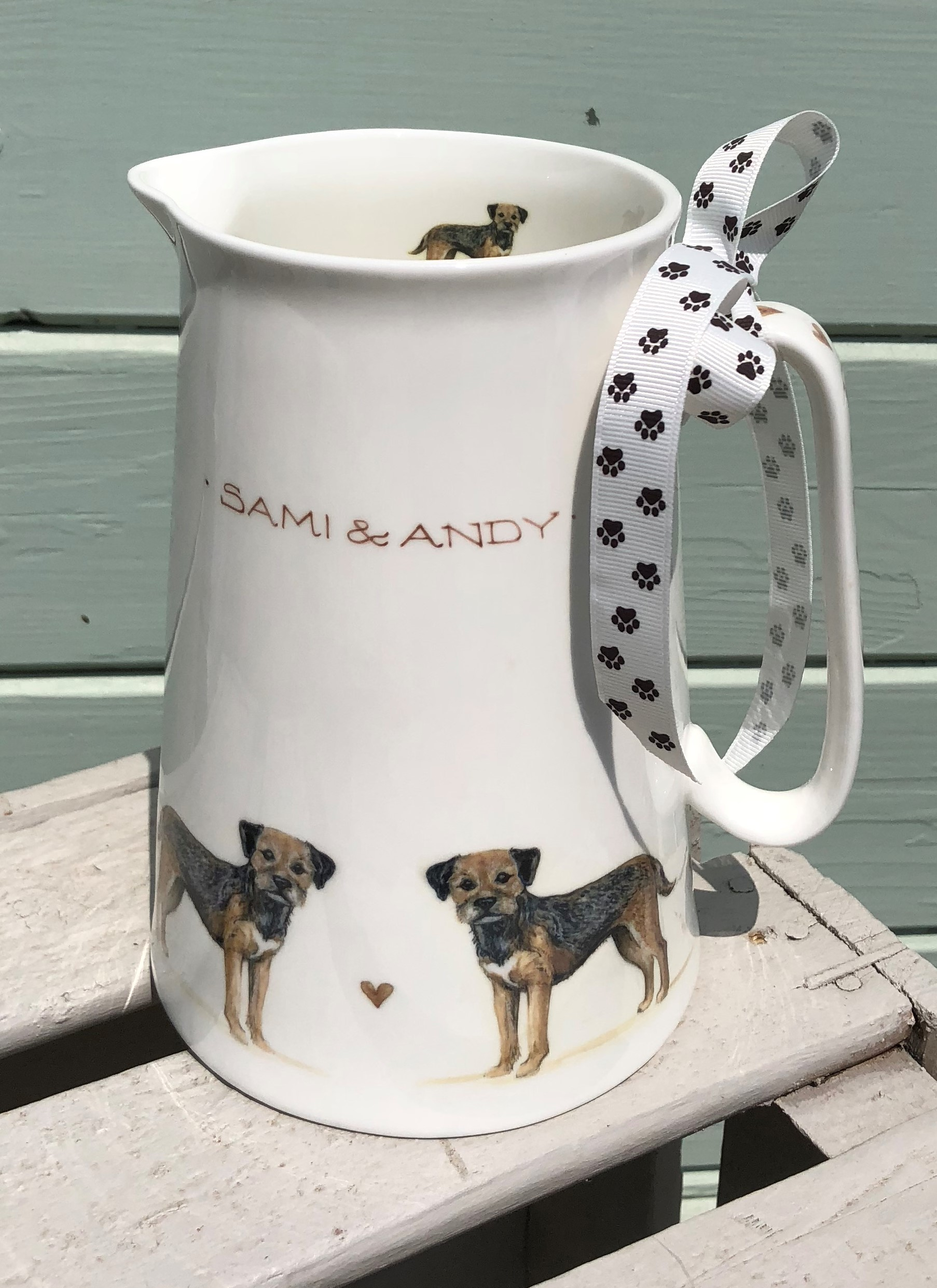 Border Terrier 3 Pint Jug with inscription. From 32.50.