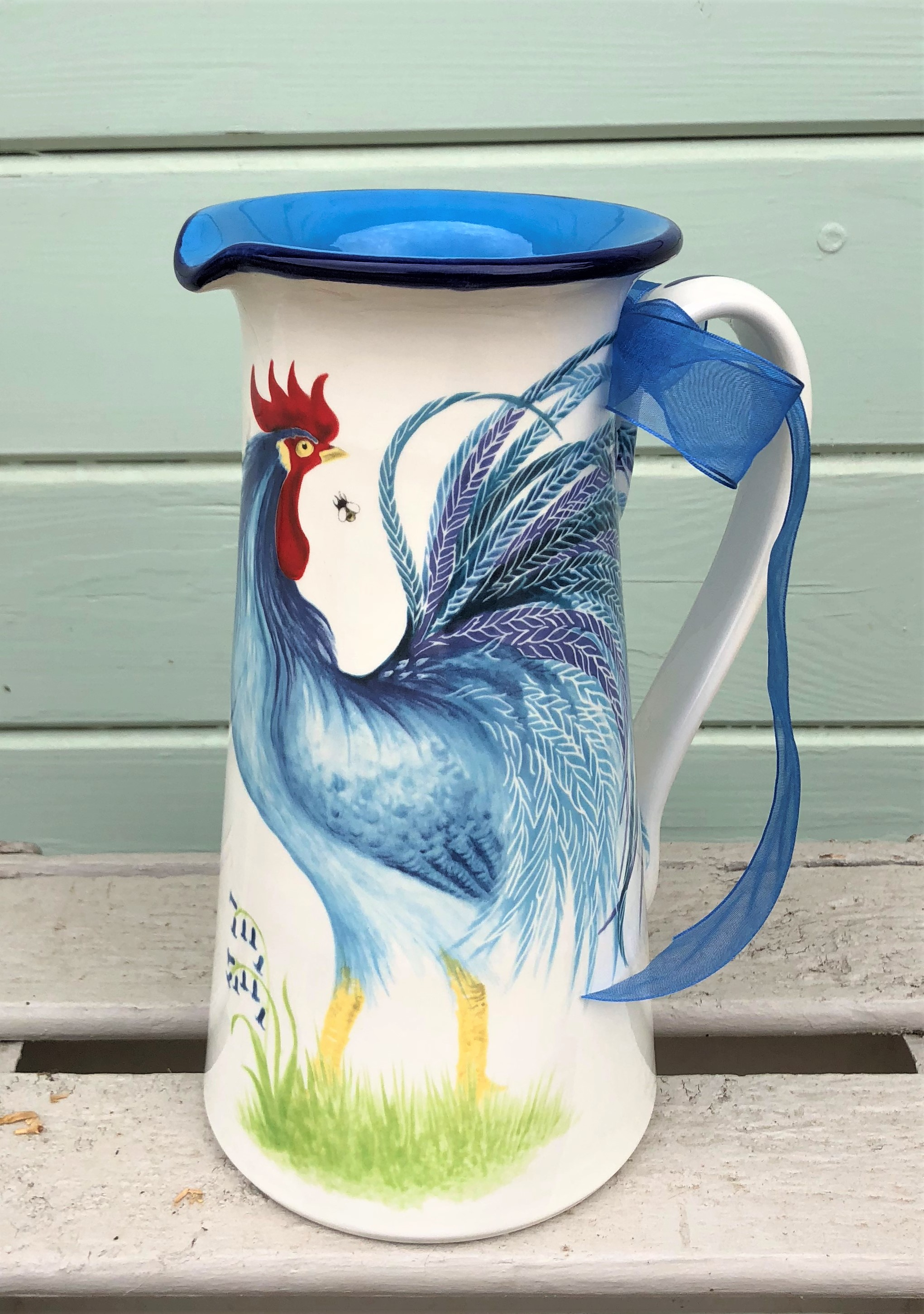 Tall Cockerel Jug. From £85.