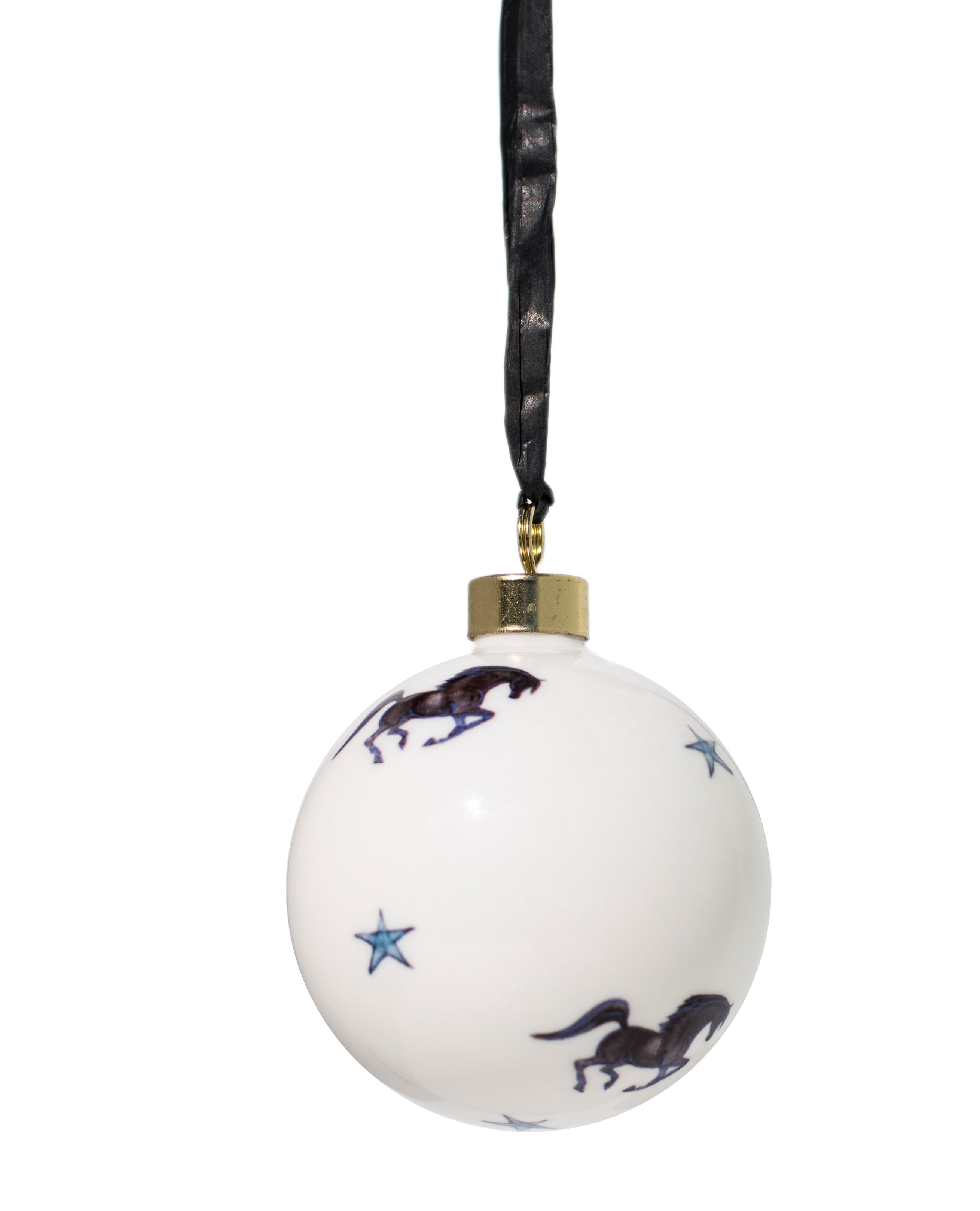 Hand decorated Black Stallion Bauble
