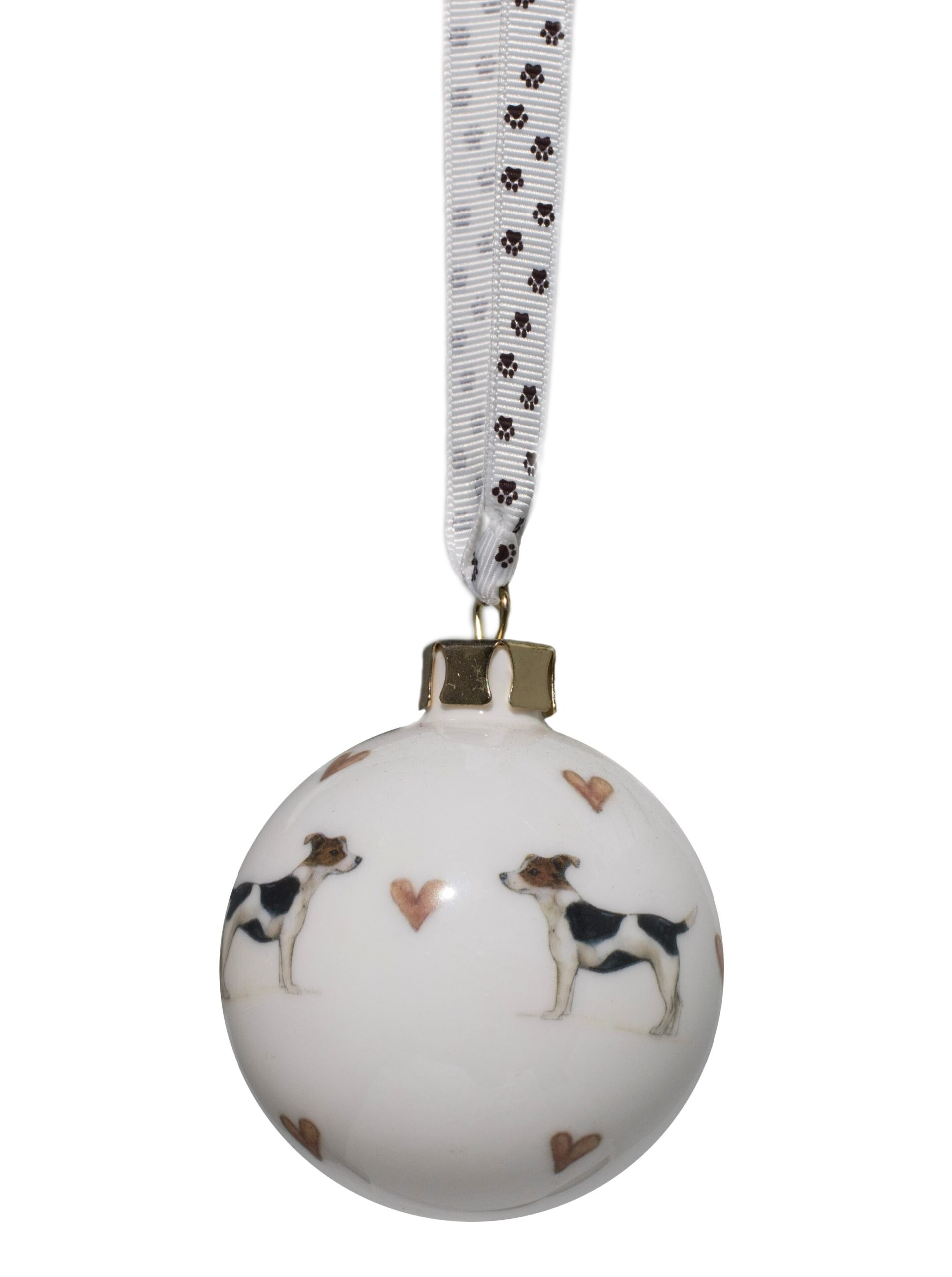 Hand decorated Jack Russell Smooth Bauble