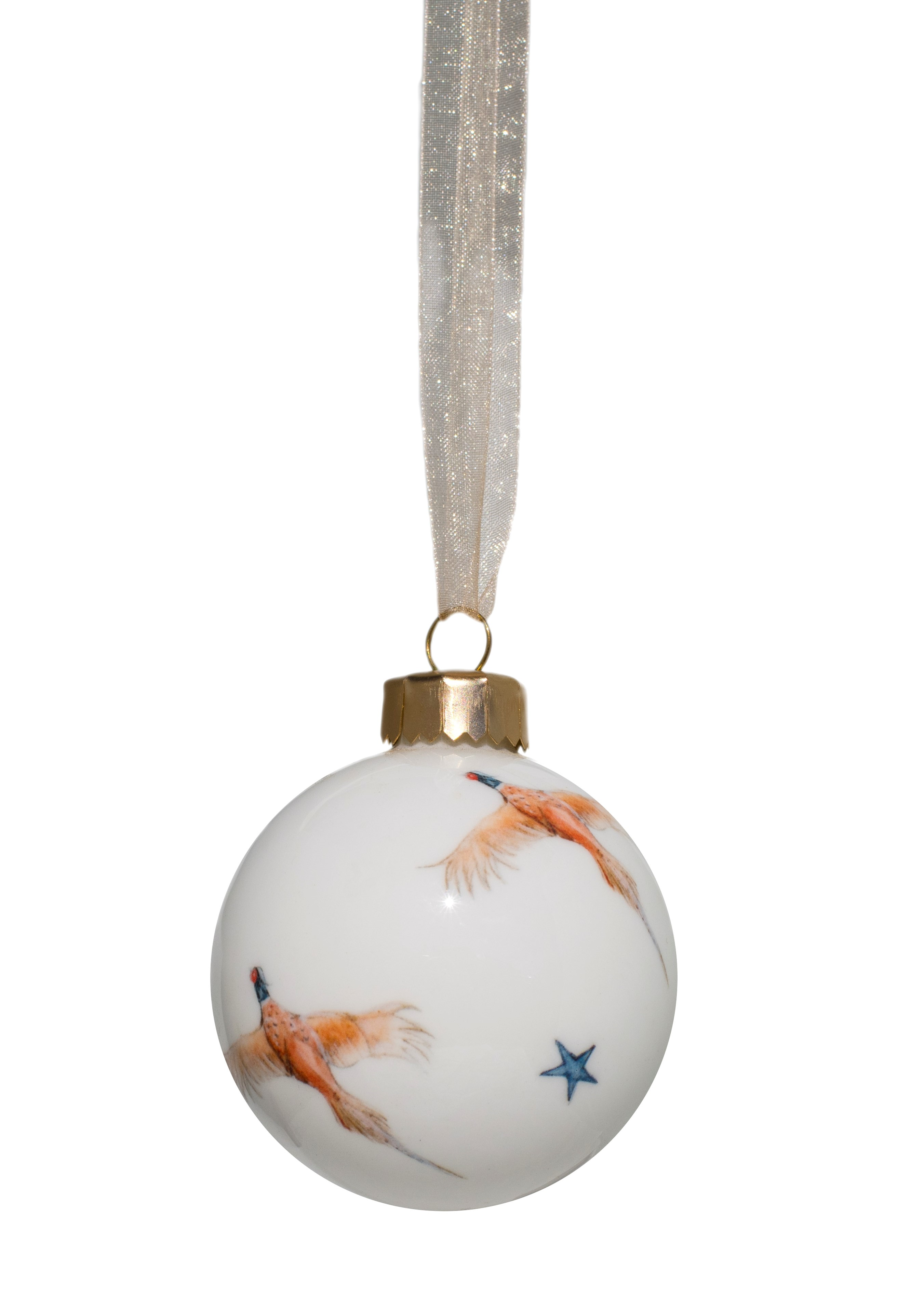 Hand decorated Pheasant Bauble