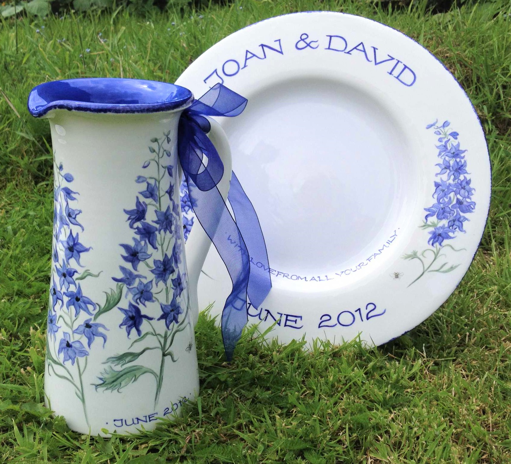 Tall Jug and Plate