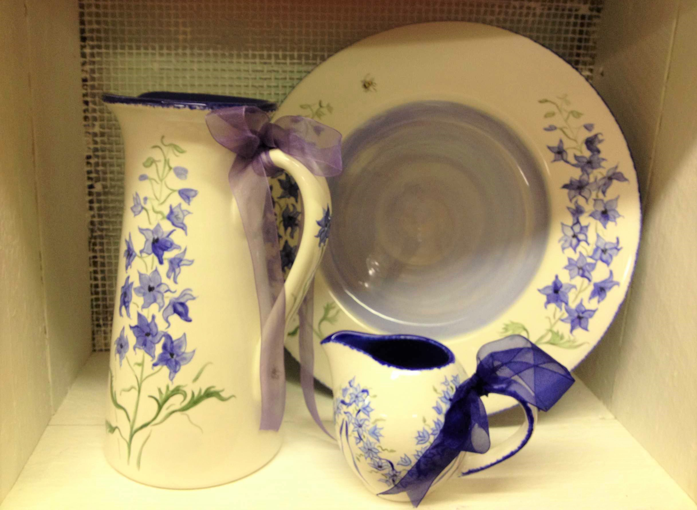Tall Jug, Plate and short jug