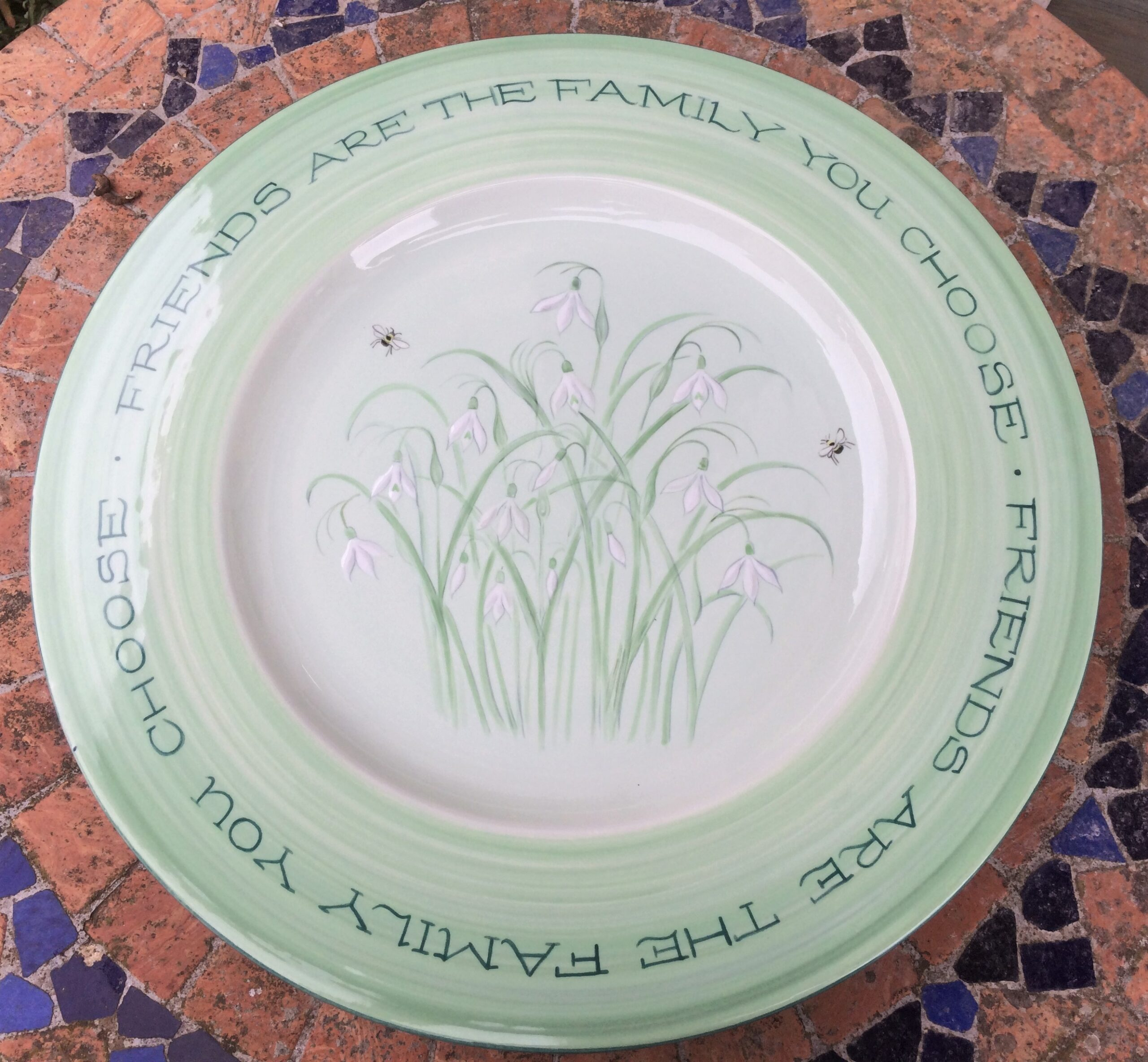 Personalised Snowdrop Plate