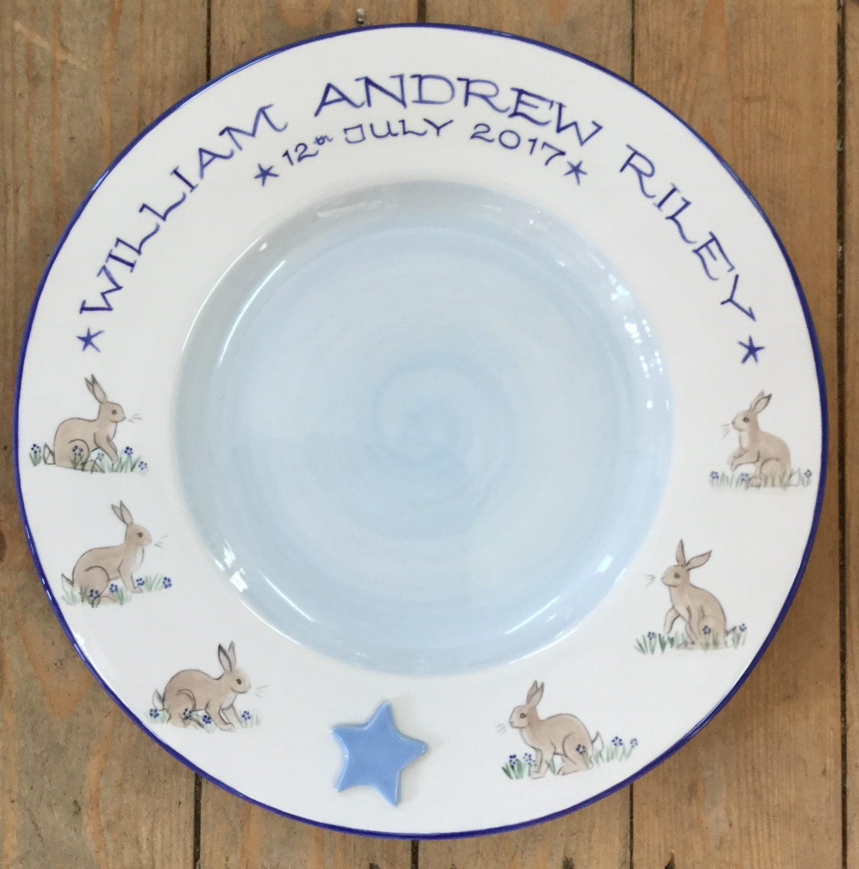 Christening Signing Plate