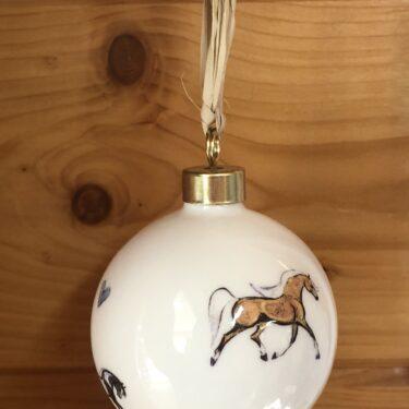 Horse Bone China Bauble Decoration