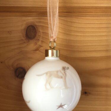 Golden Labrador Bone China Dog Bauble Decoration