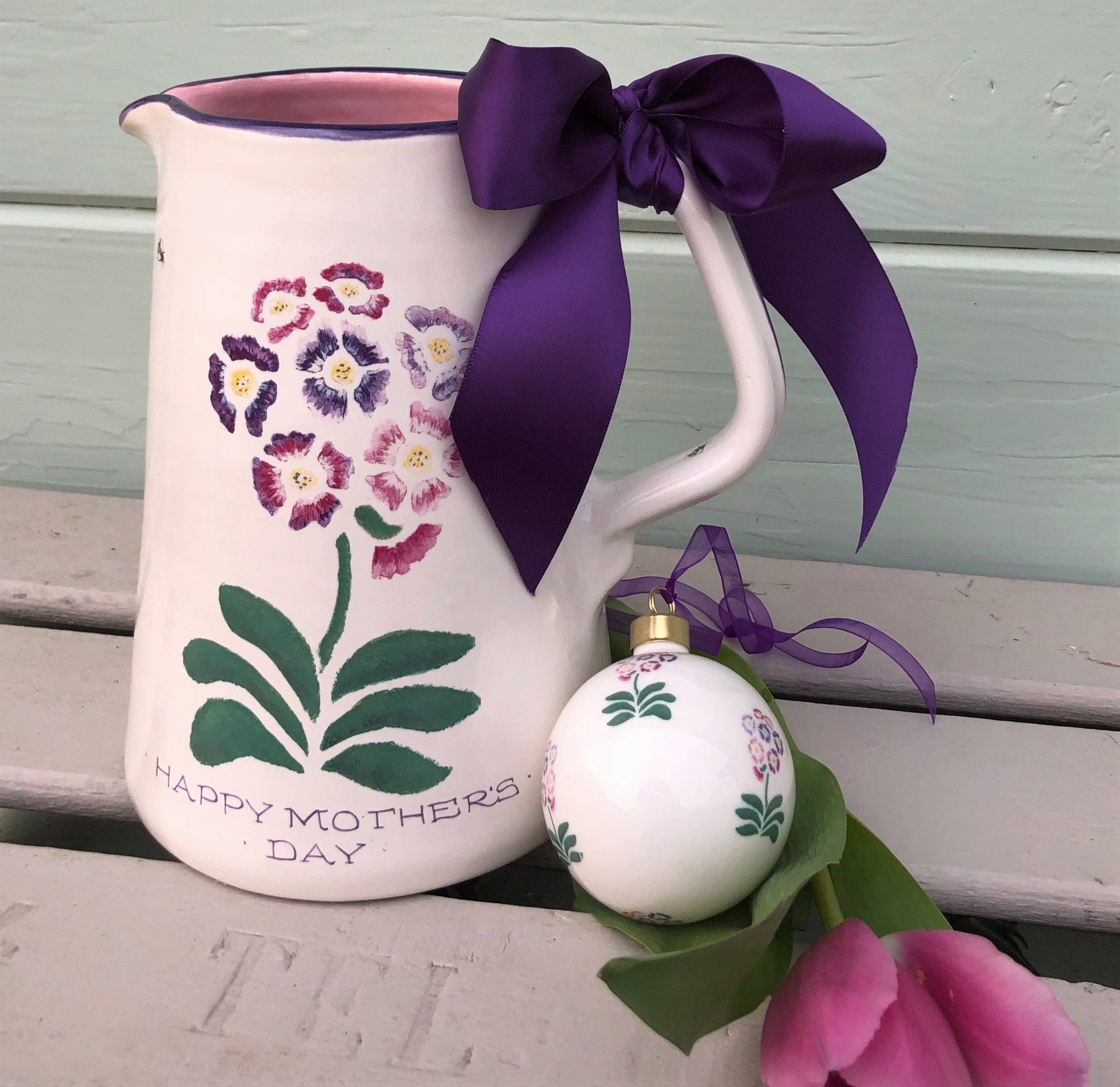 Auricular Pottery Jug From £65, Bone China Bauble £14.50