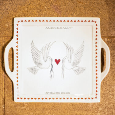 Dove and Heart Platter