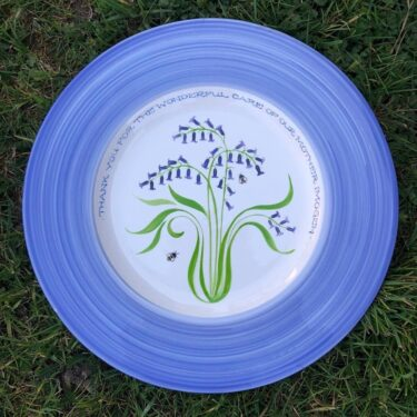 bluebell earthenware plate