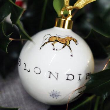 Horse bauble Christmas decoration