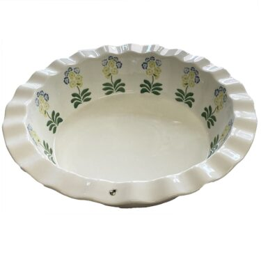 Auricula Fluted Pie Dish
