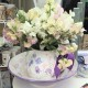 Hand Painted Sweet Pea Centrepiece Bowl and Large Jug