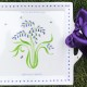 Square Bluebell Platter personalised with an inscription.  From £37.50.