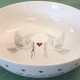 Dove and Heart personalised bowl