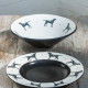 Black Labrador Centrepiece Bowl and Dish