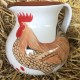 Curved Cockerel Jug