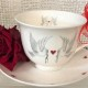 Doves and Hearts Tea Cup and Saucer.  £15.50