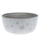 Large Bowl 25 cm diameter with Snowflakes and trimmed in Platinum £95 (without Platinum £65)