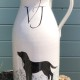 Jug with family pet portrait to mark a wedding anniversary